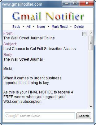 Gmail Notifier 1.0.0.30 - โปรแกรมเช็ค gmail เร่งด่วน